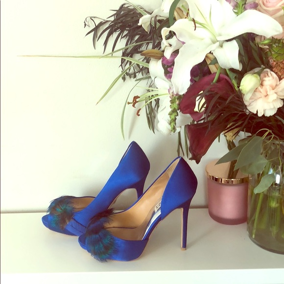 ea73478f82e5 Badgley Mischka Shoes | Peeptoe Pumps Piper Peacock | Poshmark